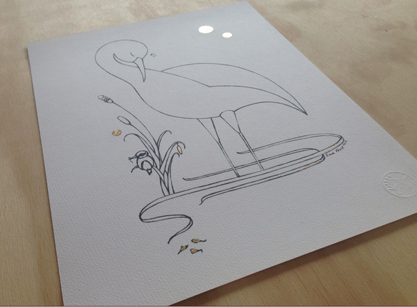 Sketch Gold Series - Sleeping Heron