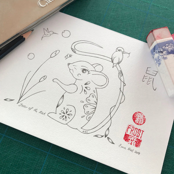 Chinese Zodiac Sketch Project #4 Rat