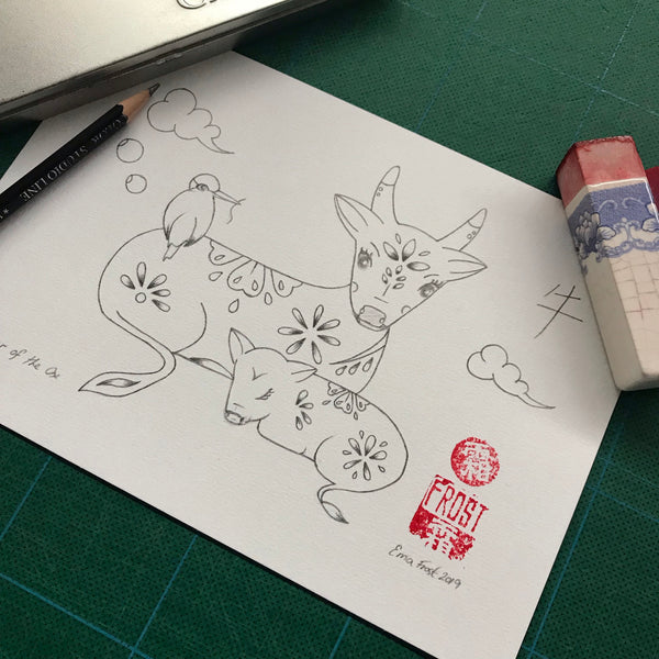 Chinese Zodiac Sketch Project #12 Ox