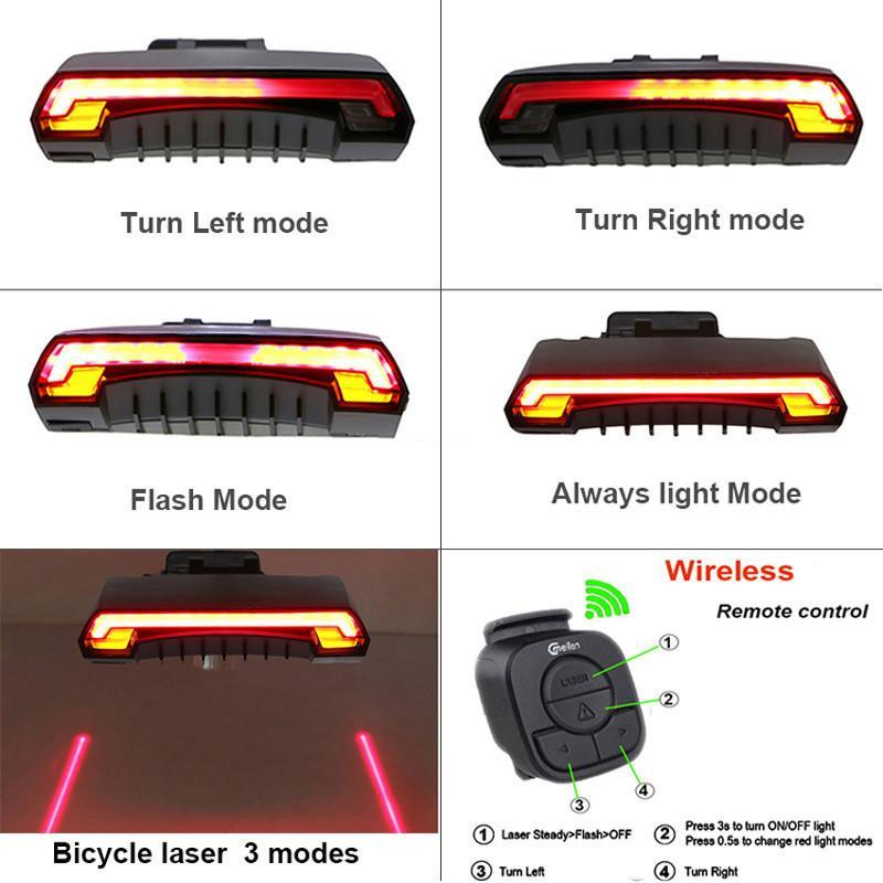 Meilan X5 USB Wireless Rear Bicycle Light - Ziggle & Co.