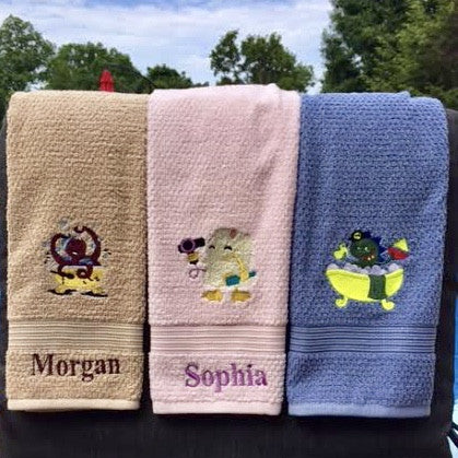 Personalized Hand Towels for Children