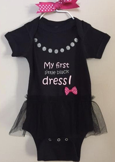 My First Little Black Dress Tutu Onsie