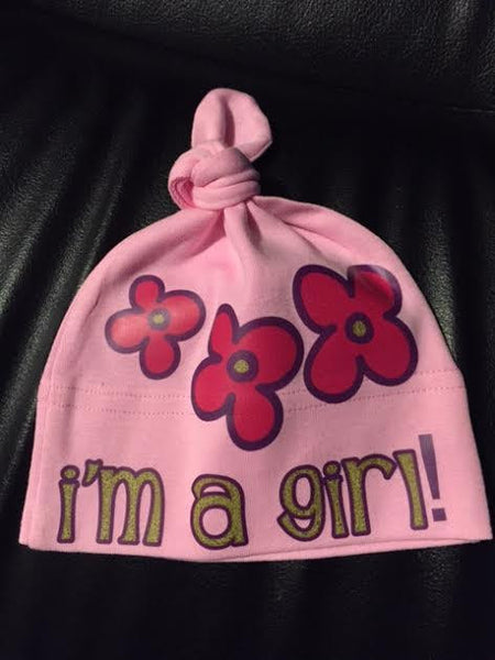 i'm a girl! knotted beanie