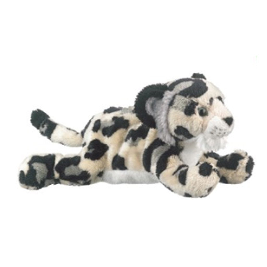 Plush Snow Leopard Cub Lying