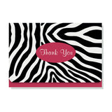 Tarjetas con sobre Zebra Thank You