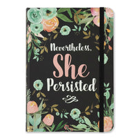 Libreta con banda elástica chica Nevertheless She Persisted Journal