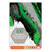 Libro para iluminar 100 Mystery Illustrations To Unveil