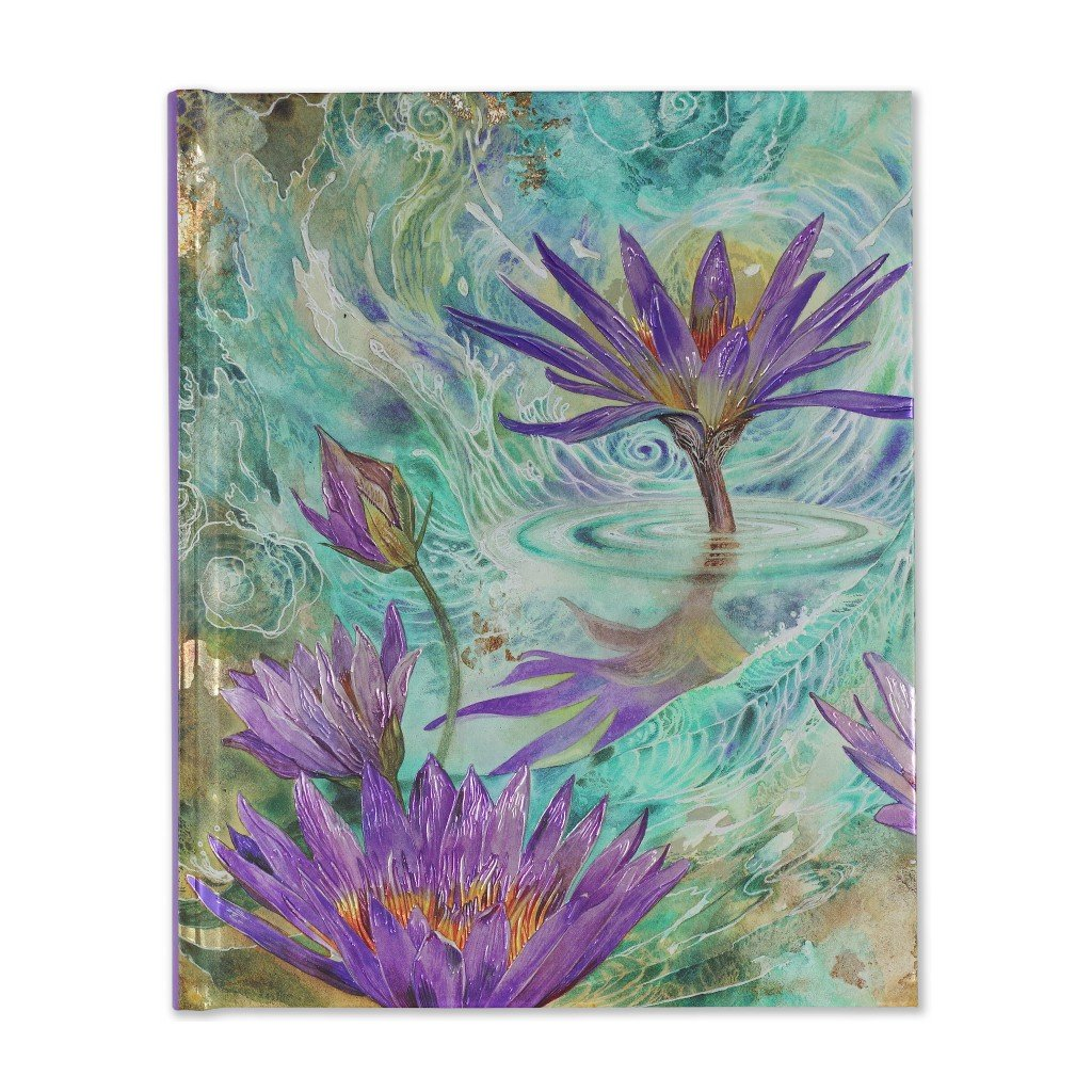 Libreta tamaño grande Purple Lotus Journal