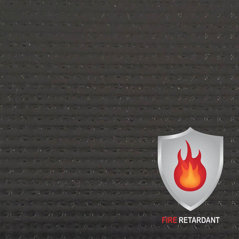 13 oz Fire Retardant Medium Duty Black Laminated Coated Vinyl Roll by AtlasShield