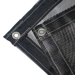 Black 18 oz Extra Heavy Duty Vinyl Coated Mesh Tarp by ShadeMax
