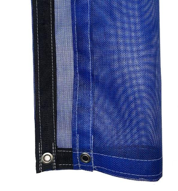 Blue 10 oz Heavy Duty Vinyl Coated Mesh Tarp by ShadeMax
