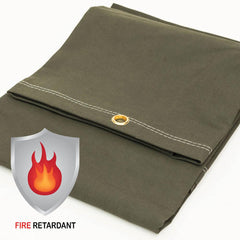 Canvas, Fire Retardant, FR, Tarp, Cover, Olive Drab