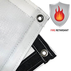 12 mil Medium Duty White/White Fire Retardant Poly Tarp by Duratarp