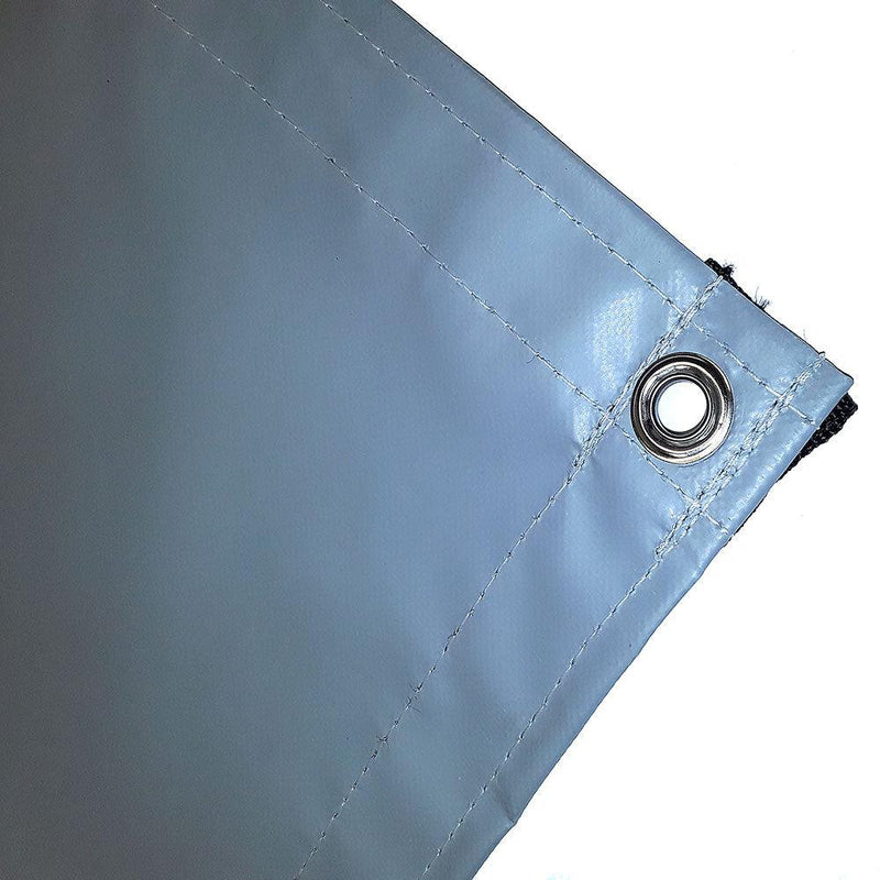 vinyl tarp, cover, gray