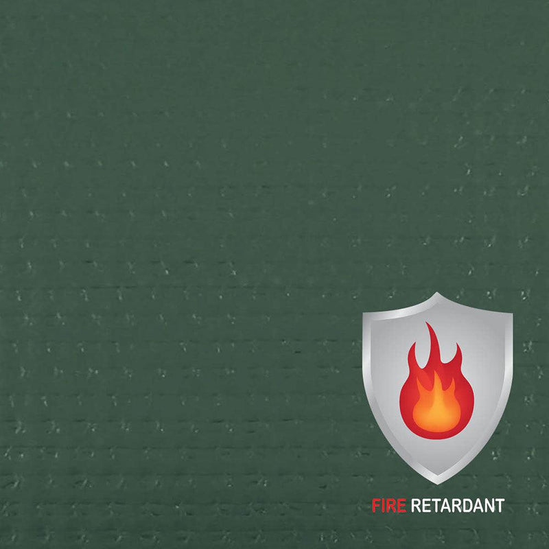 13 oz Fire Retardant Medium Duty Green Laminated Coated Vinyl Roll by AtlasShield