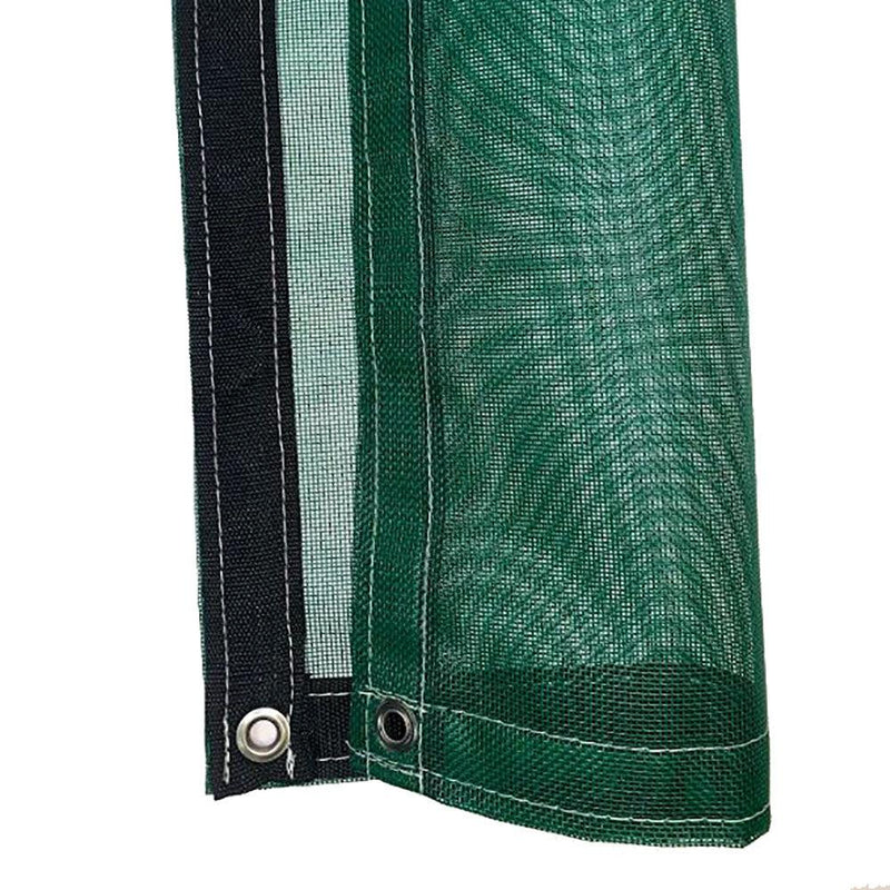 Green 8 oz Medium Duty Vinyl Coated Mesh Tarp by ShadeMax