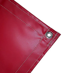 vinyl tarp, cover, red