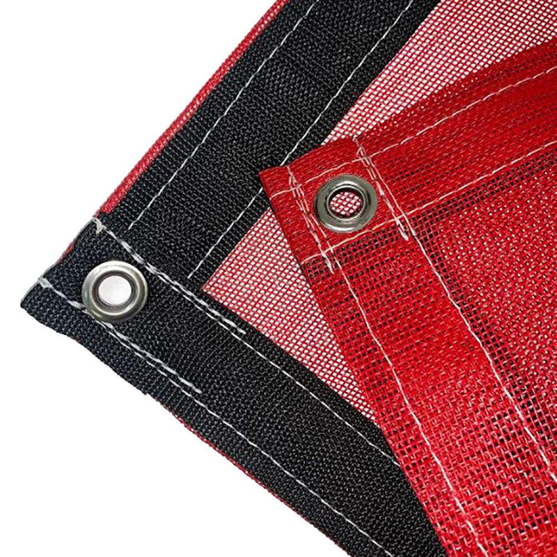 Red 10 oz Heavy Duty Vinyl Coated Mesh Tarp by ShadeMax