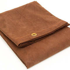 Canvas, Water Resistant, Tarp, Cover, Brown