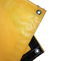 vinyl tarp, cover, yellow