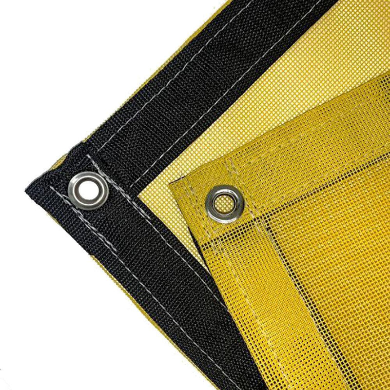 Yellow 10 oz Heavy Duty Vinyl Coated Mesh Tarp by ShadeMax