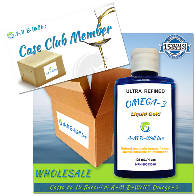 Iscrizione European Case Club & Cassa da 12 flaconi di A-M B-Well™ Omega-3 Liquid Gold