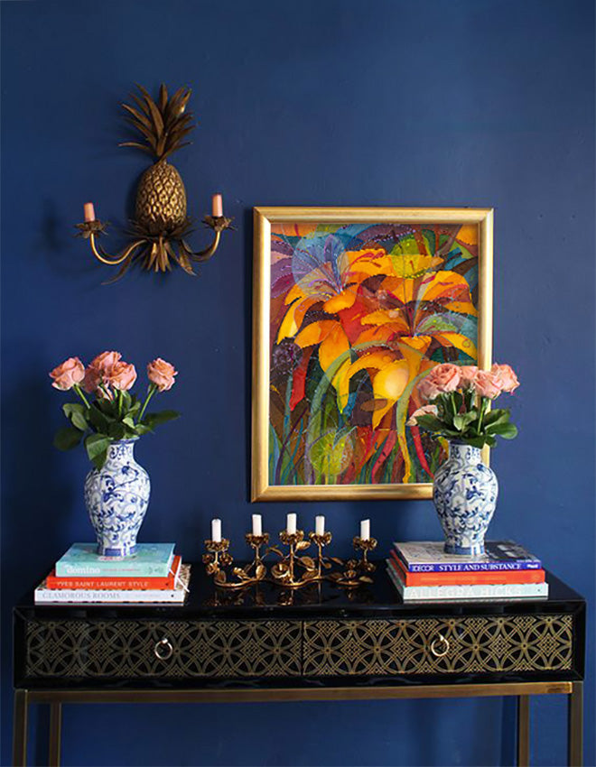Interior Design and Art: Blue Accent Walls