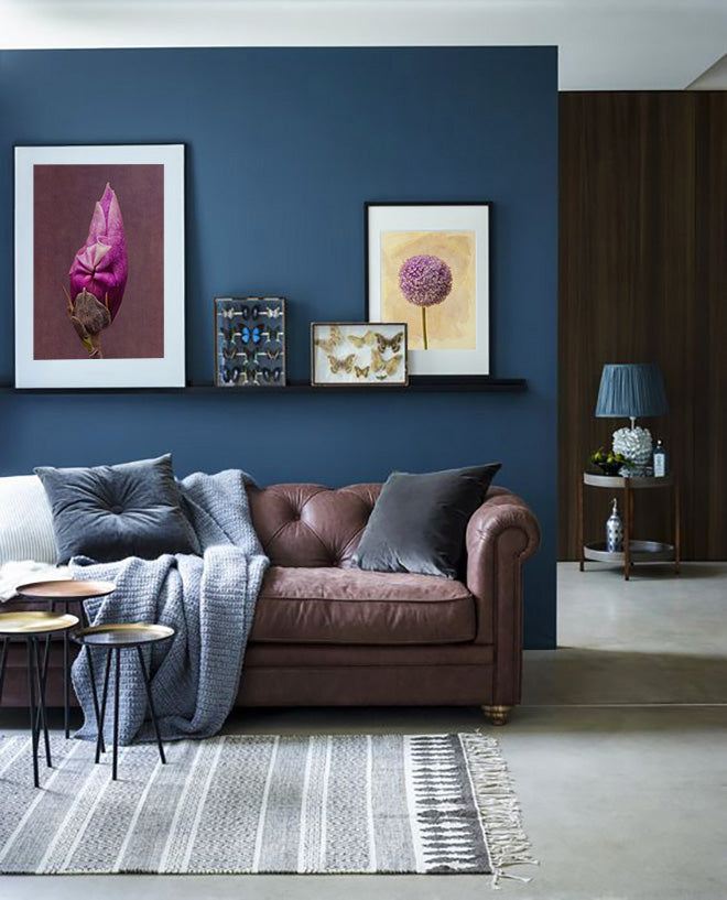 Interior Design and Art: Blue Accent Walls on Blink Art Resource
