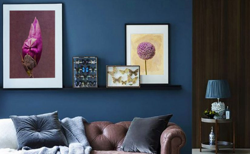 Create Compelling Blue Accent Walls With Art Amazing Design