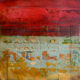Red Fresco I, mixed media artwork by Helene Steene