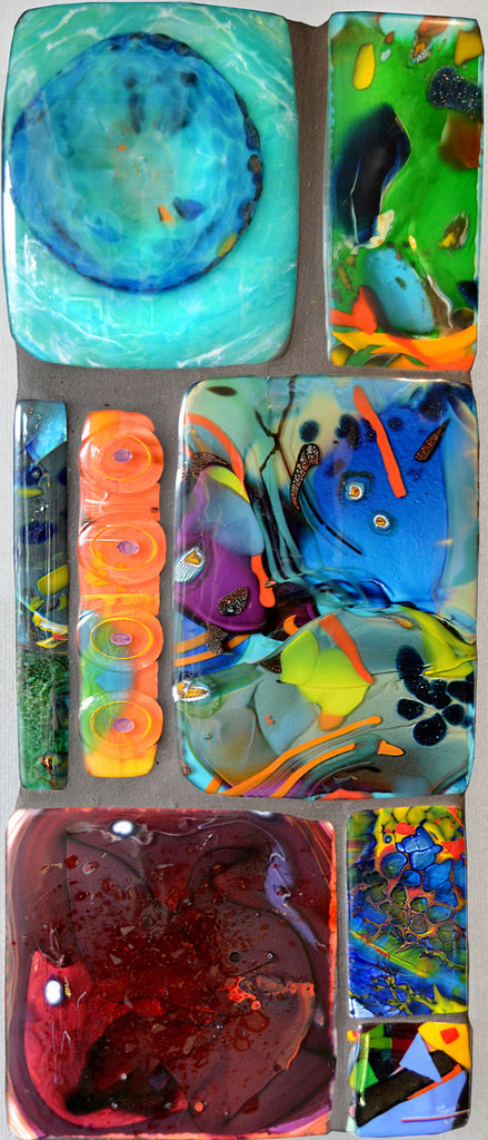 Glass Wall Tiles, Bright Colors 2