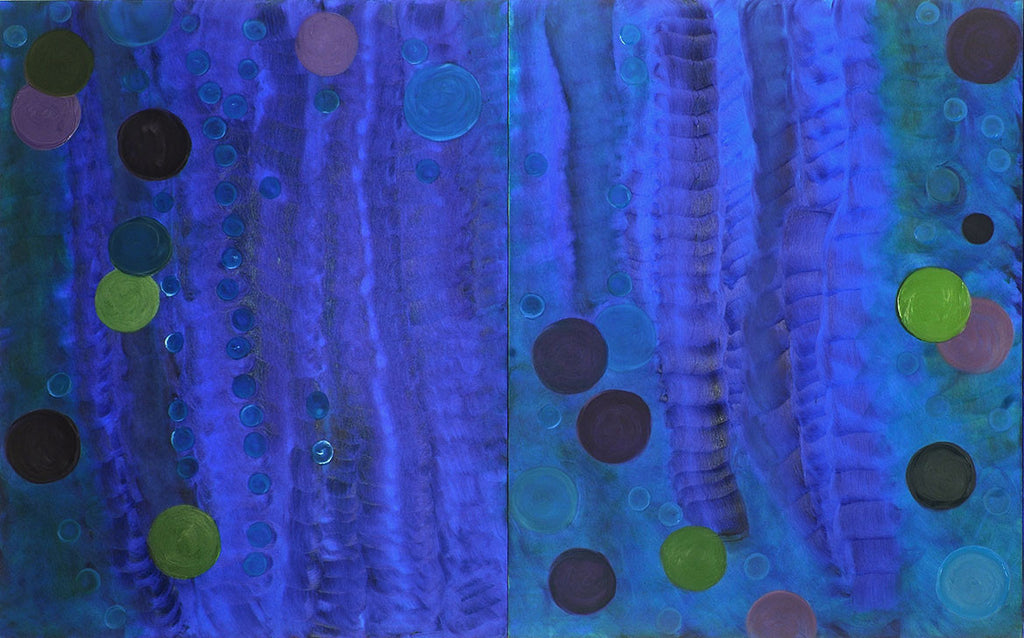 Stillpoint (Diptych) / 48 x 30 / oil on board