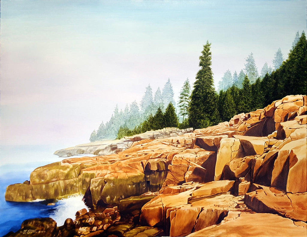 Shoodic Morning (Acadia National Park) / 36 x 24 / oil on canvas