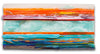 Architectural Sunset / 50 x 25 / fused glass
