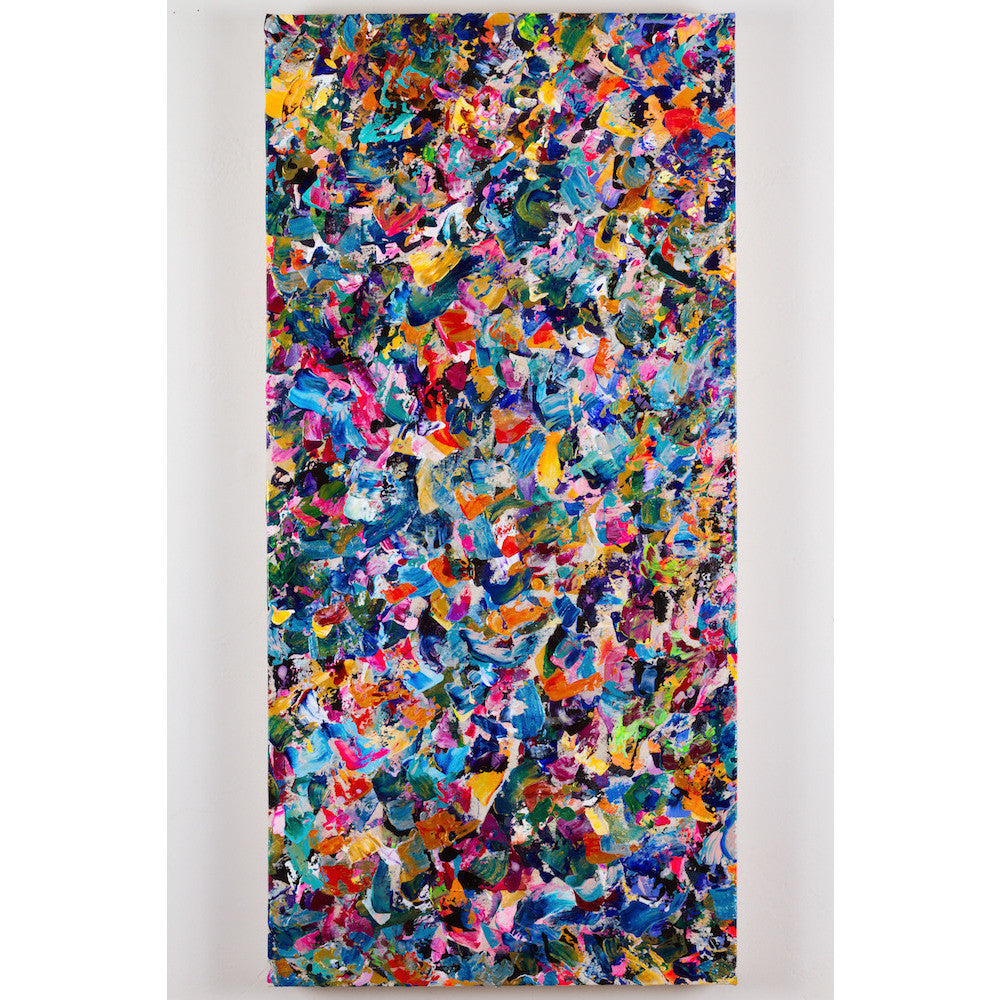Beautiful Accidents - Table Canvas. Bright, colorful, abstract painting composition by Michael Carini.