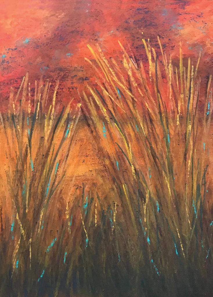Cattails on Fire