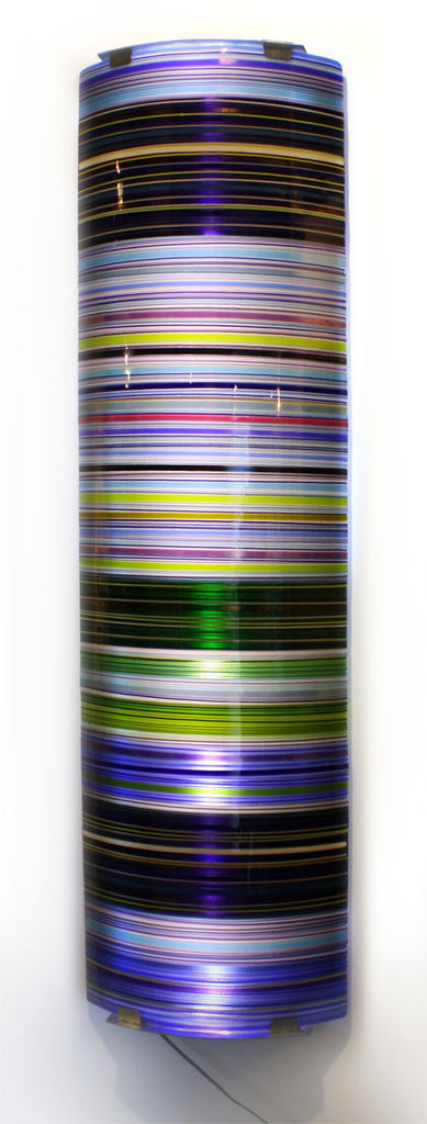 Colour Wall / 17 x 56 / fused and bent glass