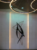 Serenade Wall Sculpture / 12.5' / bronze and stainless steel