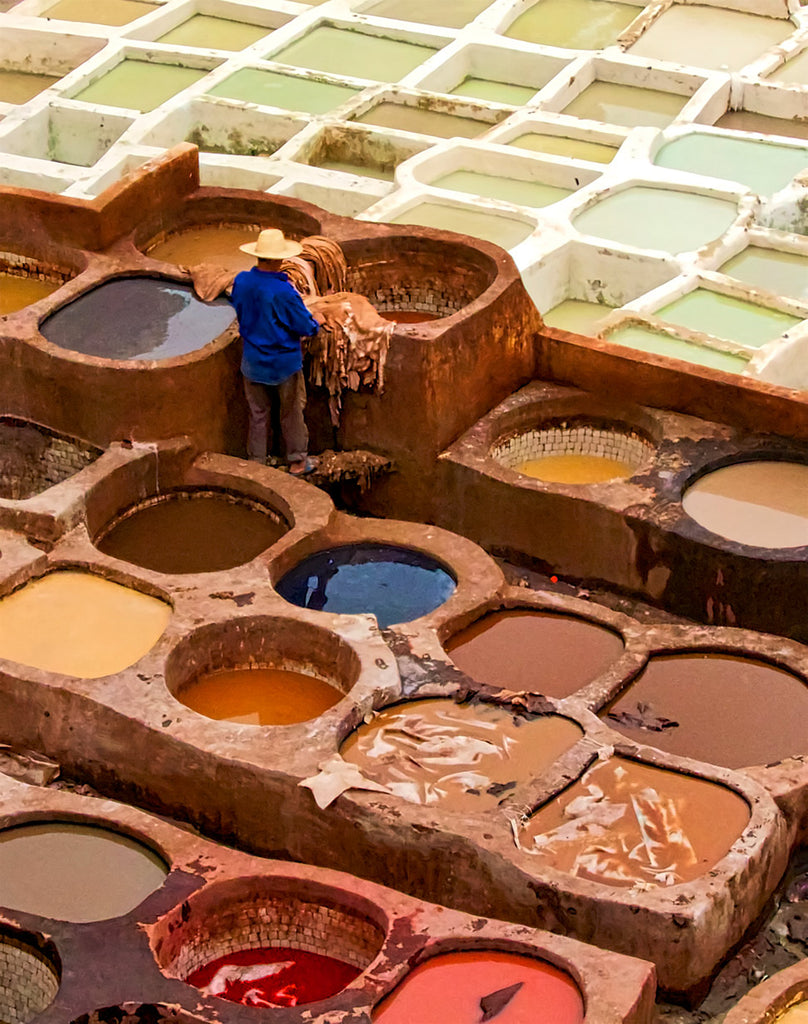 Fes Tannery Worker
