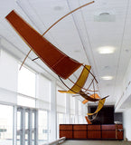 Maureen Kelly / The Hershey Project / 12' x 18' x 144' / aluminum, copper mesh, ferrari mesh, industrial fabrics, powder coating
