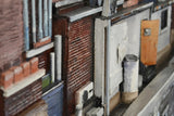 The Places Where We Live / 48.5 x 21 x 6 / oil on wood