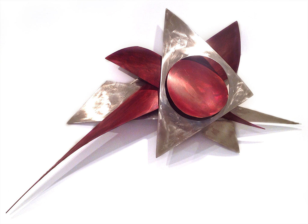 Starburst - SOLD / 31 x 48 x 10 / bronze/stainless steel