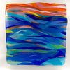 Kaledescope, fused glass wall sculpture by Barbara Westfall