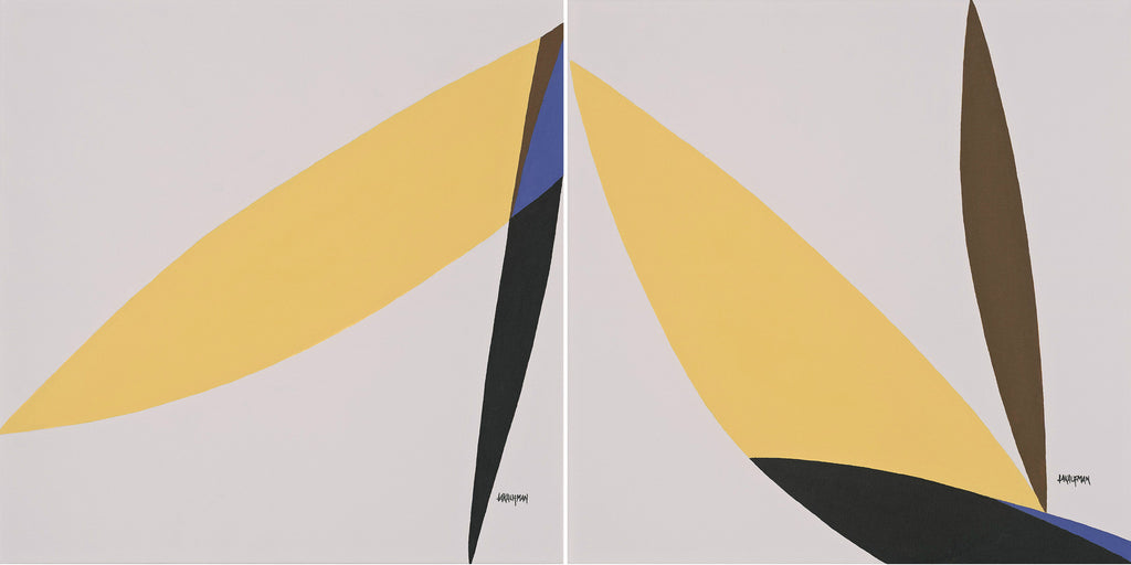 Leaning Towards the Light: Circle of Life Series (diptych) by Loretta Kaufman