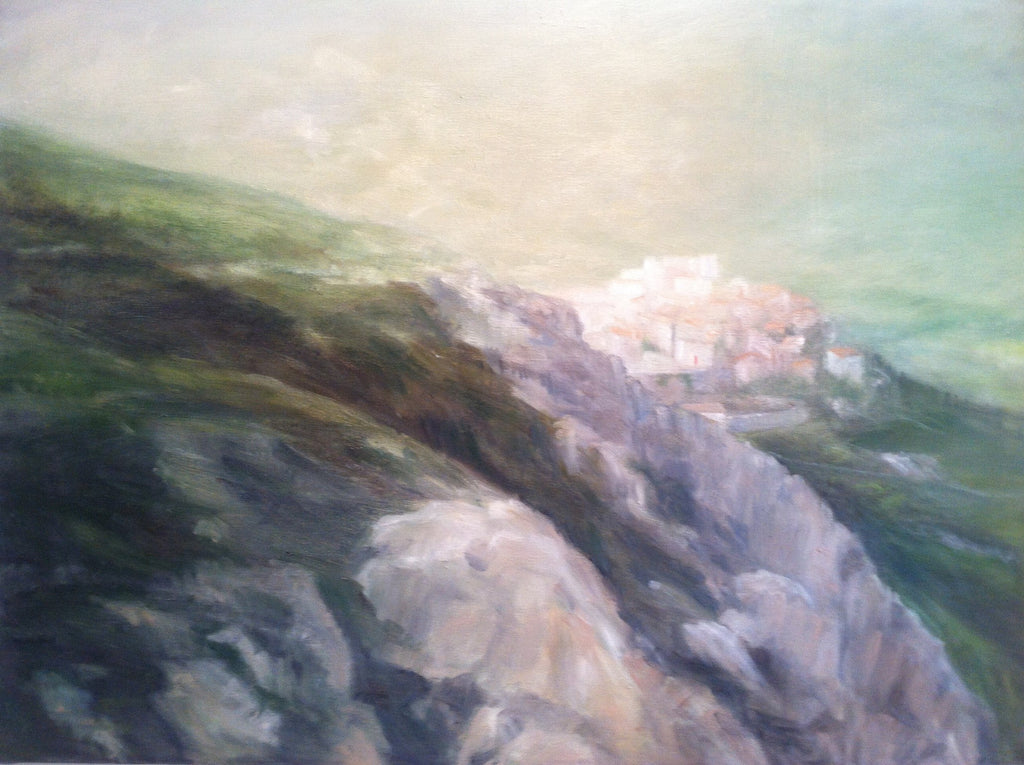 Mountaintop, Montemaggiore, Sonoma County, landscape oil painting by Josie Gearhart