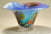 Multi-Colored Fluted Glass Bowl
