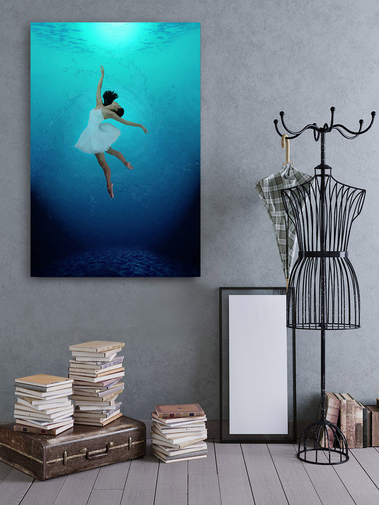 Ocean Twirling / 40 x 60 / limited edition, mixed media infused on metal, resin, custom substrates
