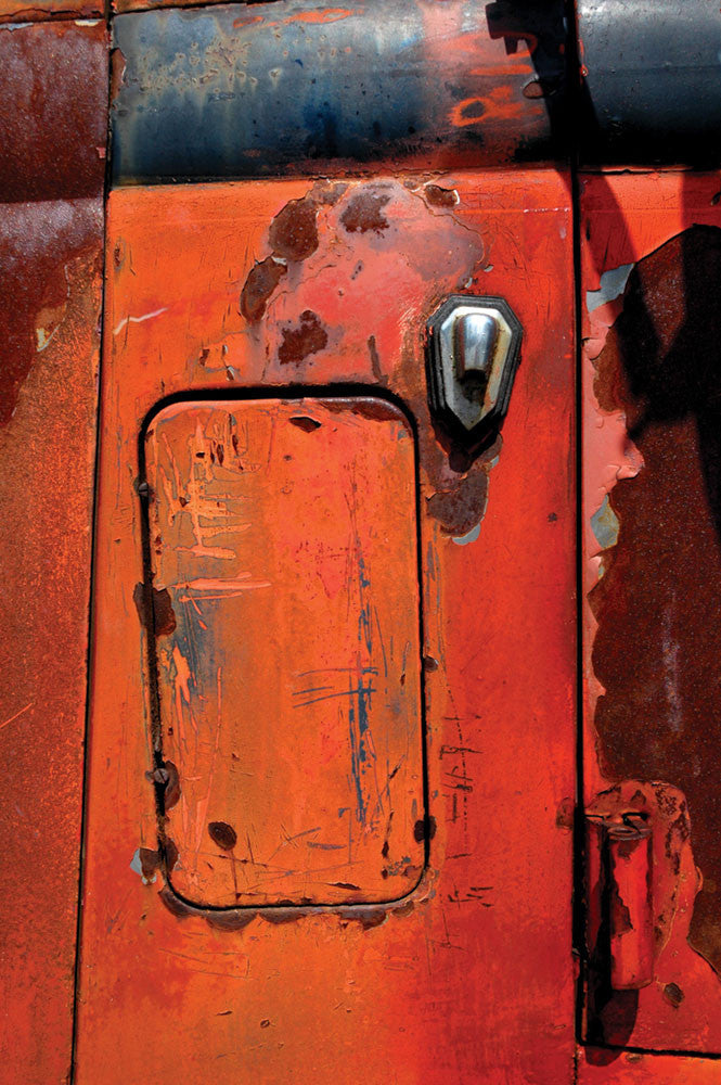 Nancy Willman / Orange Oxidation I / 22 x 30.5 / photograph on archival watercolor paper