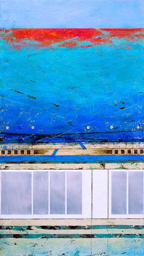 Paros Revisited I; mixed media artwork by Helene Steene