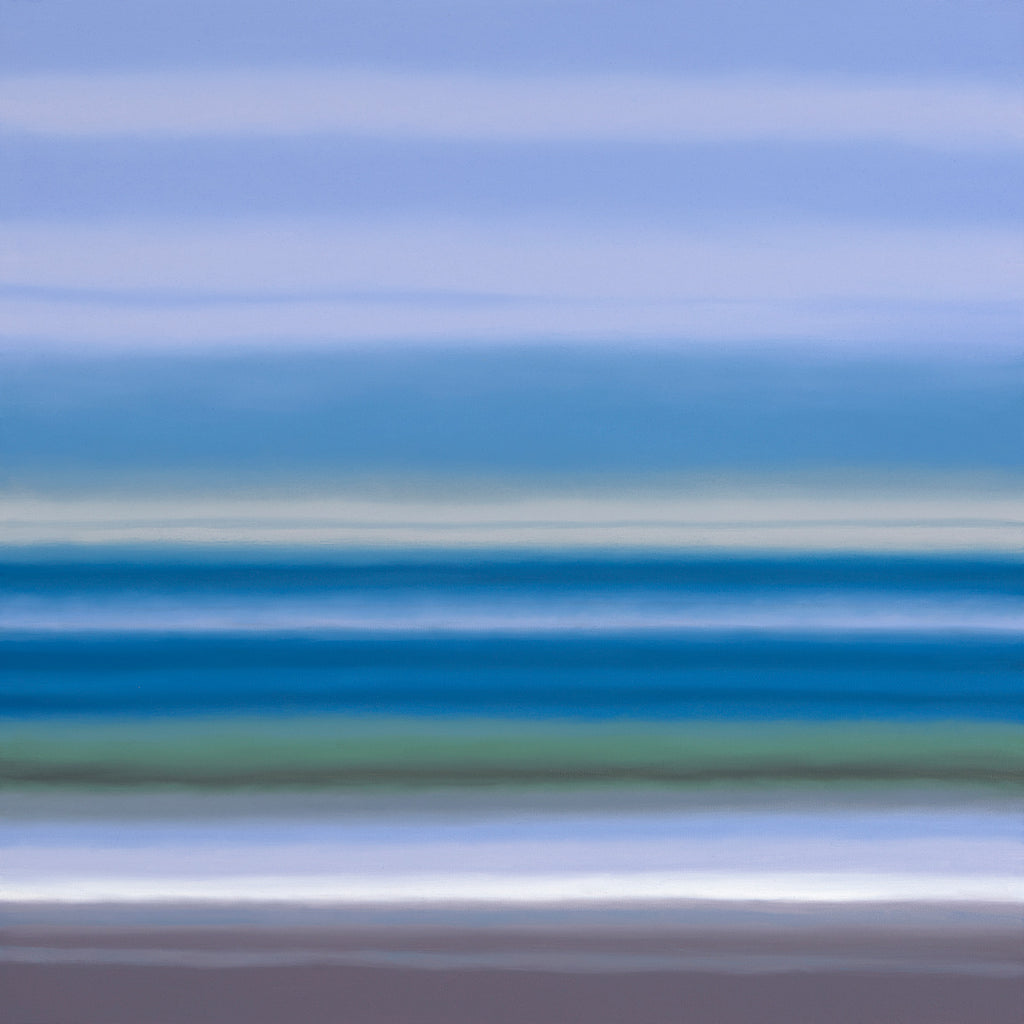 blue abstract landscape by Patrice Erickson